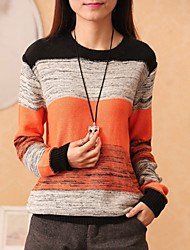 Women's Casual Long Sleeve Pullover , Knitwear Medium