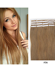 "40pcs/pack,2.5g/pc18""-30""  Brazilian Human Hair Natural Straight Hair Tape Hair Extensions In Stocks"