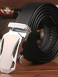 New Brand World Classic Fashion Design Men's Belt Luxury Automatic Buckle Leather Belt Men Leather Strap