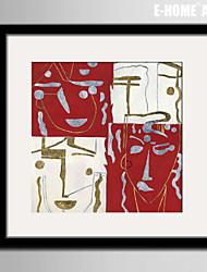 e-FOYER toile encadrée art, visage abstrait toile encadrée impression