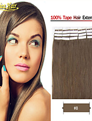 Wholesale Jenniea Beauty hair products PU Skin Weft Hair Straight Tape in Skin Human hair Extensions 100g set