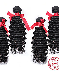 Evet дешевые человеческие волосы Малайзии свободная волна 6а Малайзии девственные волосы 4 пучки # 1b Малайзии свободная волна