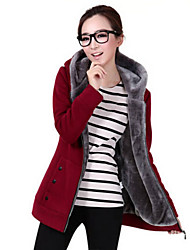 Women's Casual Warm Velvet Zipper Hoodies with Pocket, Long Sleeve Thick