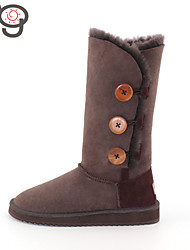 MO Classic Snow Boots Keep Warm Women's Twinface Sheepskin Suede lined Boots Winter Boots