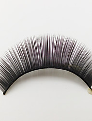 1 Eyelashes lash Full Strip Lashes Eyes Machine Made Fiber Black Band 0.05mm 10mm
