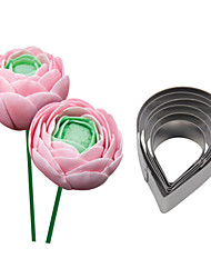 FOUR-C Stainless Steel Rose Drop Flower Cutter Fondant Sugar Craft Cupcake Mold Baking Moulds Cookie Decorating Tools