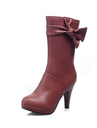 Women's Shoes Faux  Cone Heel Round Toe/Closed Toe Boots