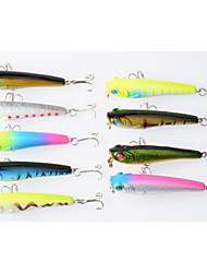 9pcs 70mm/6.7g Plastic Pencil Fishing Lures(Color Assorted)