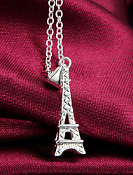 2016 Fashion Eiffel Tower Exaggeration Beauty Silver Necklace For Women&Lady