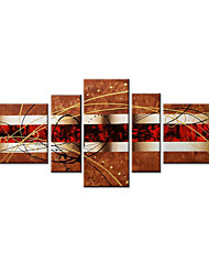 VISUAL STAR®Handmade 5pcs Canvas Oil Painting Abstract Home Decor Painting Ready To Hang