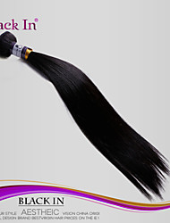 1Pcs/Lot Brazilian Virgin Hair Silky Straight 100% Human Hair Weft Jet Black Unprocessed Hair Extensions