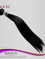 """1 PC / porción 8 """"-10"""" pelo brasileño sedosos extensiones de pelo del pelo virginal brasileño rectas humanos sin procesar tejidos Venta"""