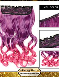 cinq clips bouclé synthétique clip extension de cheveux en extensions de cheveux f1