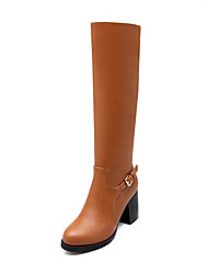 Women's Shoes Chunky  Heel Round Toe Knee High  Boots More Colors available