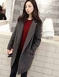Domonie Women's Coats & Jackets , Casual/Work Long Sleeve