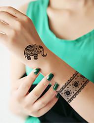 Yimei - Tatuajes Adhesivos - Non Toxic/Waterproof - Series de Animal - Mujer/Adulto/Juventud - Negro - Papel - 5 - 14.5*20CM - RFK11