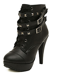 shoe showing Women's Shoes Black Stiletto Heel 10-12cm Boots