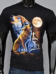 Diyan Men's Summer  3D Short Sleeved Fashion Personality  T-shirt