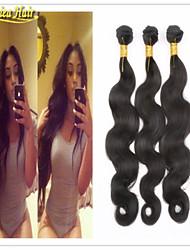 3pcs / lot a la venta el envío libre 8-32inch 3pcs paquete cuerpo de la trama del pelo de la onda en la acción del pelo humano 100% remy