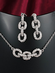 Hot Selling Products Casual Platinum Plated Necklace Jewelry Sets Necklace Set Brand Jewelry
