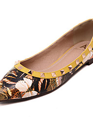 Women's Shoes   Flat Heel Pointed Toe Flats Casual Blue/Yellow