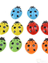 10pcs Lovely Ladybug Refrigerator Magnet 3D Fridge for Messages Posted Microwave Sticker