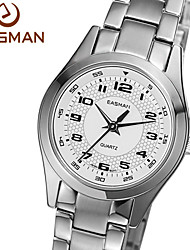 EASMAN® Womens Watches Solid Stainless Steel Waterproof Switzerland Elegant Silver White Dress Ladies Watches Watch Cool Watches Unique Watches