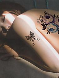 1Pcs Waterproof Peony flower Pattern Temporary Body Art Tattoo Sticker