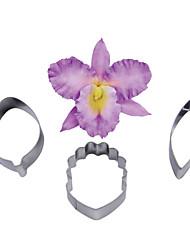 FOUR-C цветок орхидеи Cymbidium лепесток резак, торт украшения инструменты, выпечки инструменты помады плесень резак кекс плесень