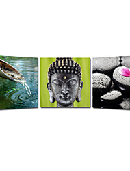 VISUAL STAR®Buddha Stretched Canvas Printing Triptych Wall Art Ready to Hang