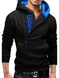 Super men Men's Hoodie Sweats & Hoodies , Cotton Blend Long Sleeve Casual / Work Fashion Winter / Fall Super men