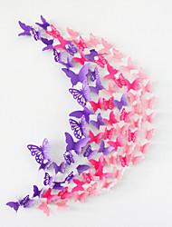 20pcs muraux papillon creux autocollants 3d stickers muraux décoration de mariage