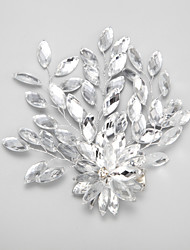 Women's / Flower Girl's Rhinestone / Alloy Headpiece-Wedding / Special Occasion Hair Clip 1 Piece White Oval