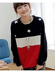 Women's T-shirt , Cotton Long Sleeve Fabric Sleeve Lengt