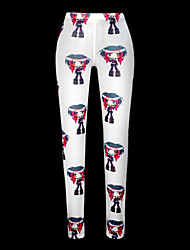Naisten Kuvio Polyesteri Leggingsit ,  Keskipaksu