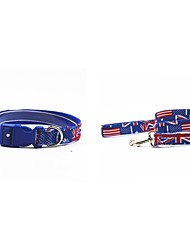 Canvas-The UK Flat Style Pet Dogs Collar and Leash Suit (Assorted Sizes)