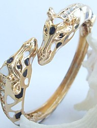 Unique Deer Giraffe Bracelet Bangle With Clear Rhinestone crystals