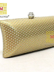 Women 's PU Minaudiere Tote/Evening Bag - Gold/Silver/Black