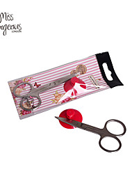 MISS GORGEOUS Beauty Makeup Eyebrow Scissors Round Stainless Steel Eyebrow Scissors Mini Cutter Makeup Cosmetic Tools
