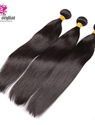 "4 Pcs Lot 10-26"" Mongolian Silky Straight Virgin Hair Weave Bundles Natural Black Tangle Free Soft Human Hair Extensions"