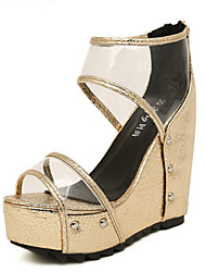 Women's Shoes Wedge Heel Wedges Sandals Casual Silver/Gold