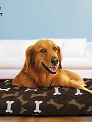 divertimento di Pets® caldo ossa molli modello grande cane animali domestici pad materasso per i cani 90x68cm (colori assortiti)