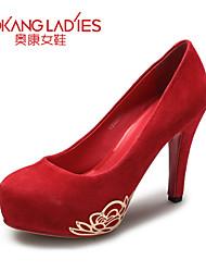 Zapatos de mujer Ante Tacón Stiletto Tacones/Comfort/Puntiagudos/Punta Cerrada TaconesBoda/Exterior/Oficina y