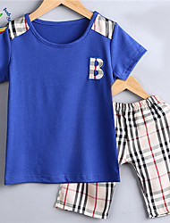 Boy's Cotton Blend Jeans/Clothing Set Summer Short Sleeve