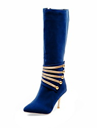 Women's Shoes Stiletto Heel Pointed Toe Knee High Boots More Colors available