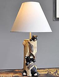 lampes de bureau résine 220v ours blanc européen nord nature classique