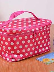 dobrável saco de portátil de mão para receber bolsa saco de cosméticos de cor aleatória
