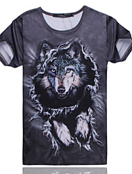 2015 Women's Summer High Quality Personality Leisure Pattern Cute Space Cotton 3D T-Shirt —— The Wolf Clan