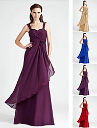 Bridesmaid Dress Floor Length Chiffon A Line Sweetheart Dress