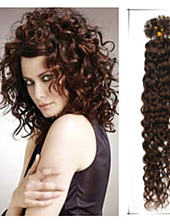 Grade 5A 1pc/Lot 20Inch/50cm multicolors curly Fusion /U Tip Hair Extension Human Hair weaves  0.5g/s